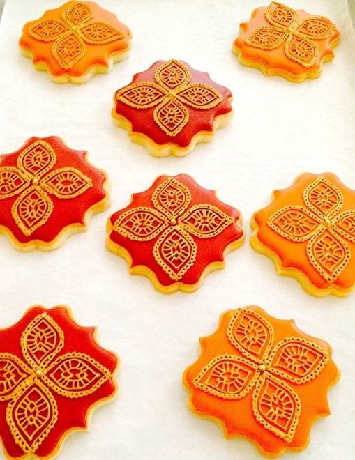Henna inspired fall cookies