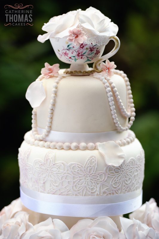 Vintage Teacup Wedding Cake