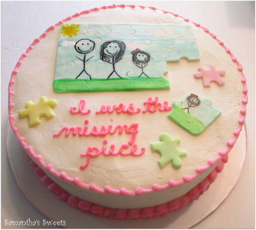 Puzzle Baby Shower Cake