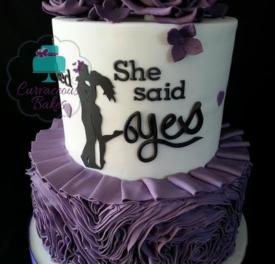 she said yes cake