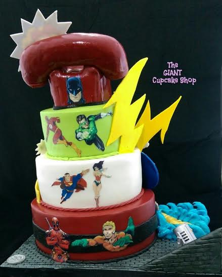 Superheroes Birthday Cake